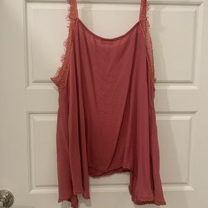 Intimately Free People Pink Lace Flowy Tank